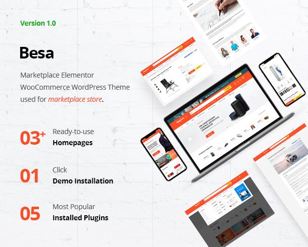 Besa - Elementor Marketplace WooCommerce Theme - 5