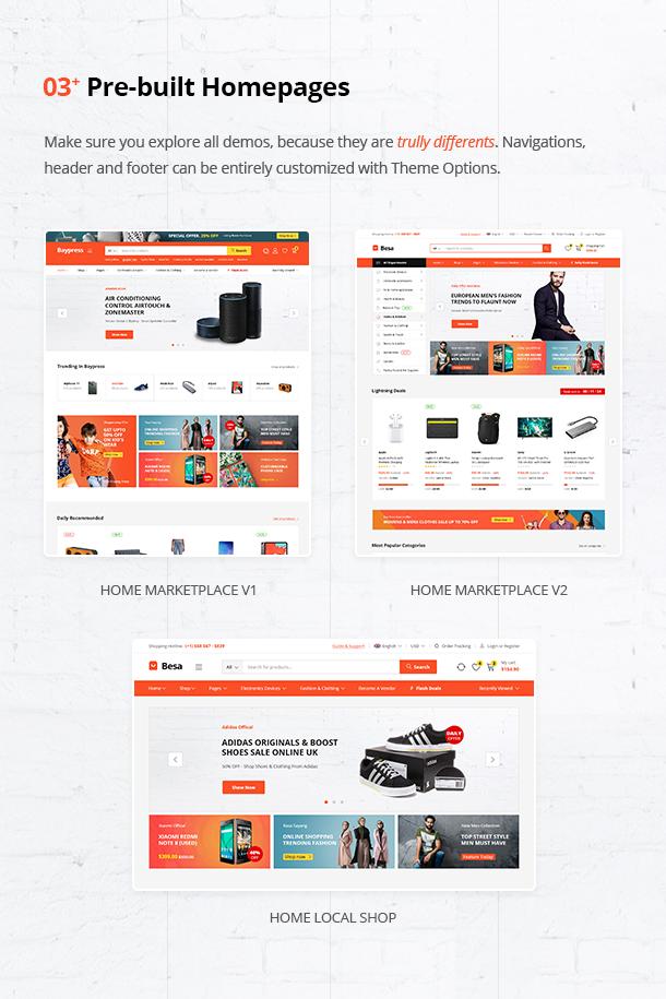 Besa - Elementor Marketplace WooCommerce Theme - 8