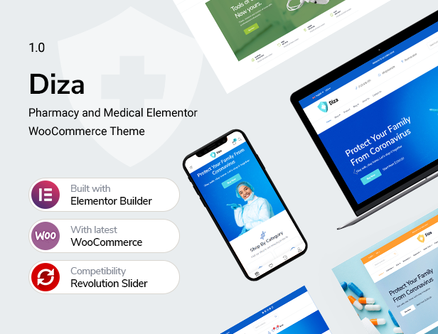Diza - Pharmacy Store Elementor WooCommerce Theme - 5