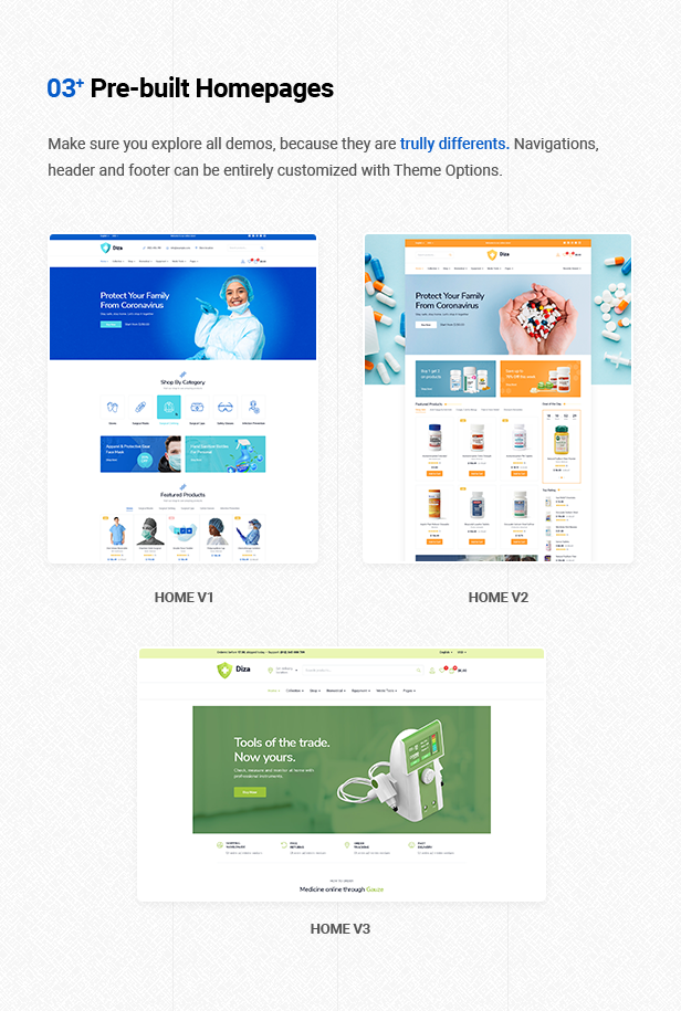 Diza - Pharmacy Store Elementor WooCommerce Theme - 8