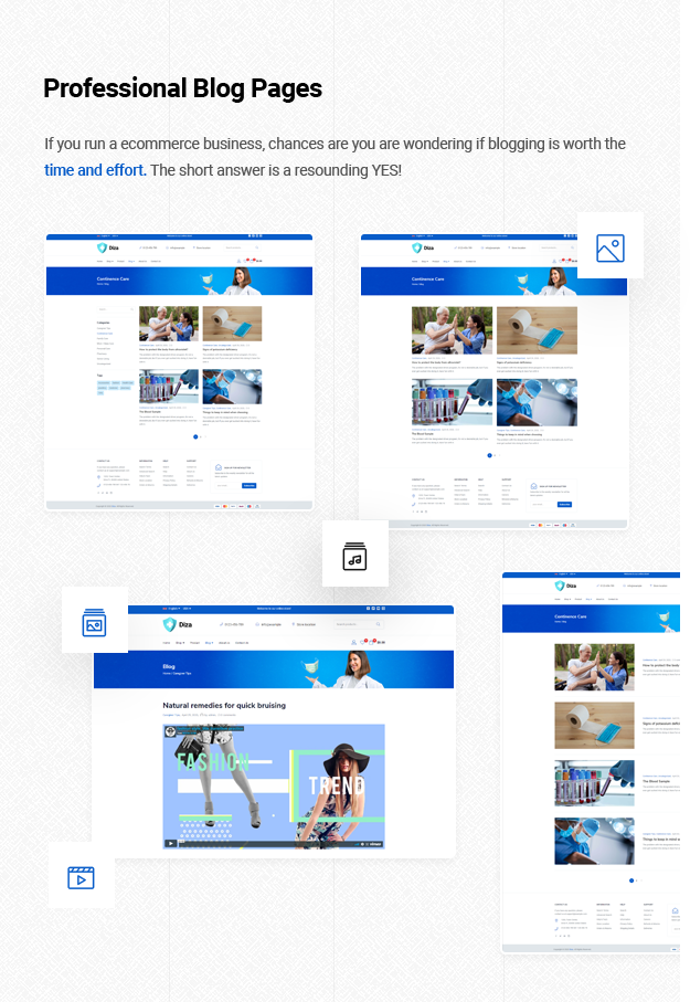 Diza - Pharmacy Store Elementor WooCommerce Theme - 17