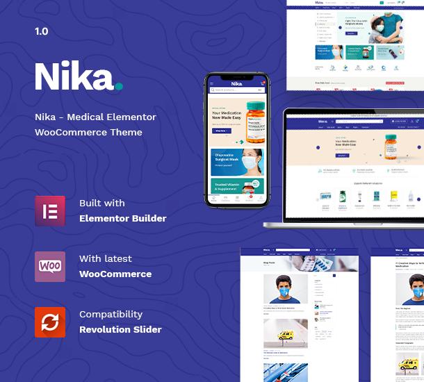 Nika - Medical Elementor WooCommerce Theme - 7